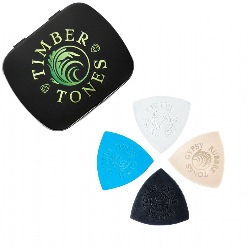 Rubber Tones Gypsy - Tin of 4 Picks | Timber Tones